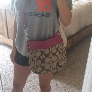 Authentic coach crossbody purse